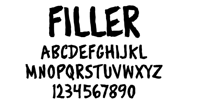 Filler Typeface
