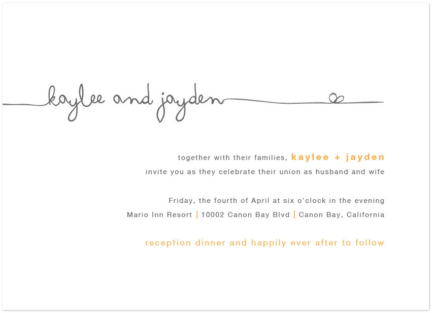 happy forever wedding invitation