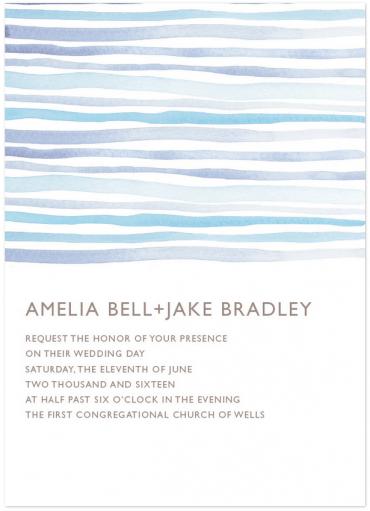 Horizon Wedding Invitation Featuring Gill Sans Font