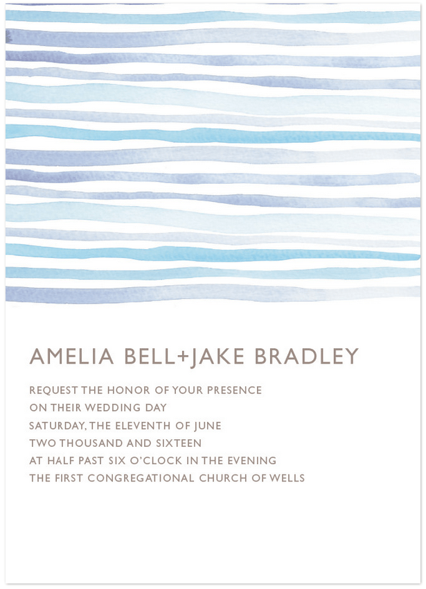horizon wedding invitation