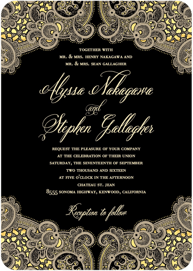intricate allure wedding invitation