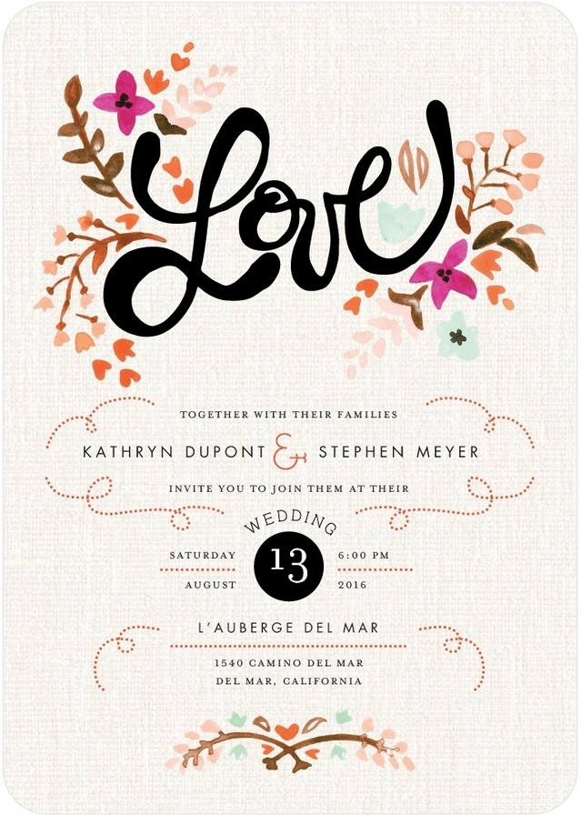 love Wedding Invite