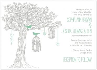 Love Birds Wedding Invitation Featuring StrangeLove Font