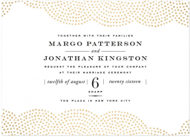 Majestic Wedding Invitation Featuring Engravers Font
