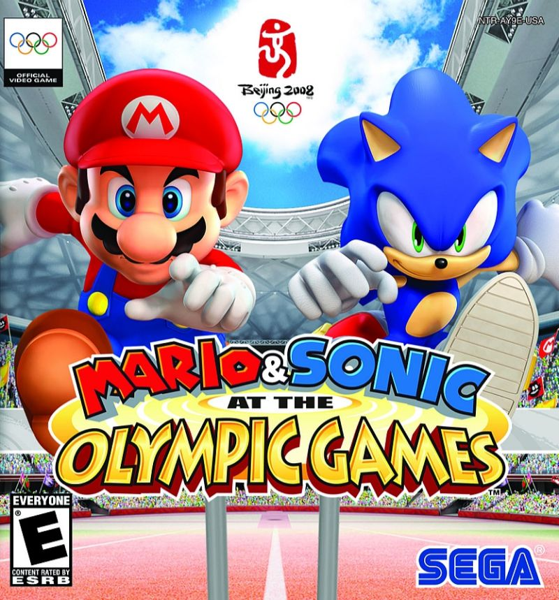 Mario Sonic At The Olympic Games Font