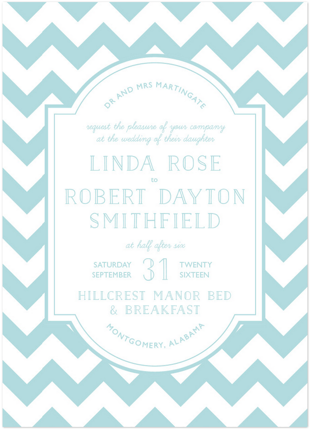 Modern Belle Wedding Invitation Featuring Naive Inline Font