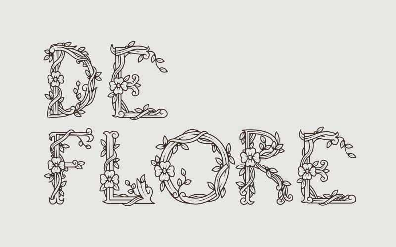 De Flore – Free Floral Font Poster A