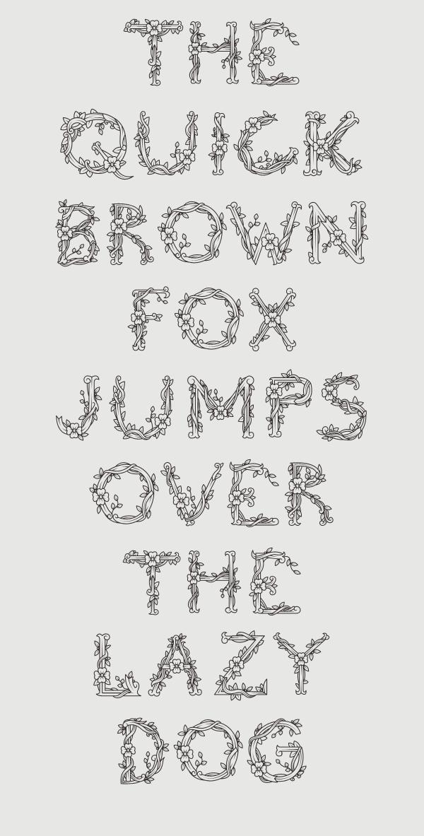 De Flore – Free Floral Font Poster C