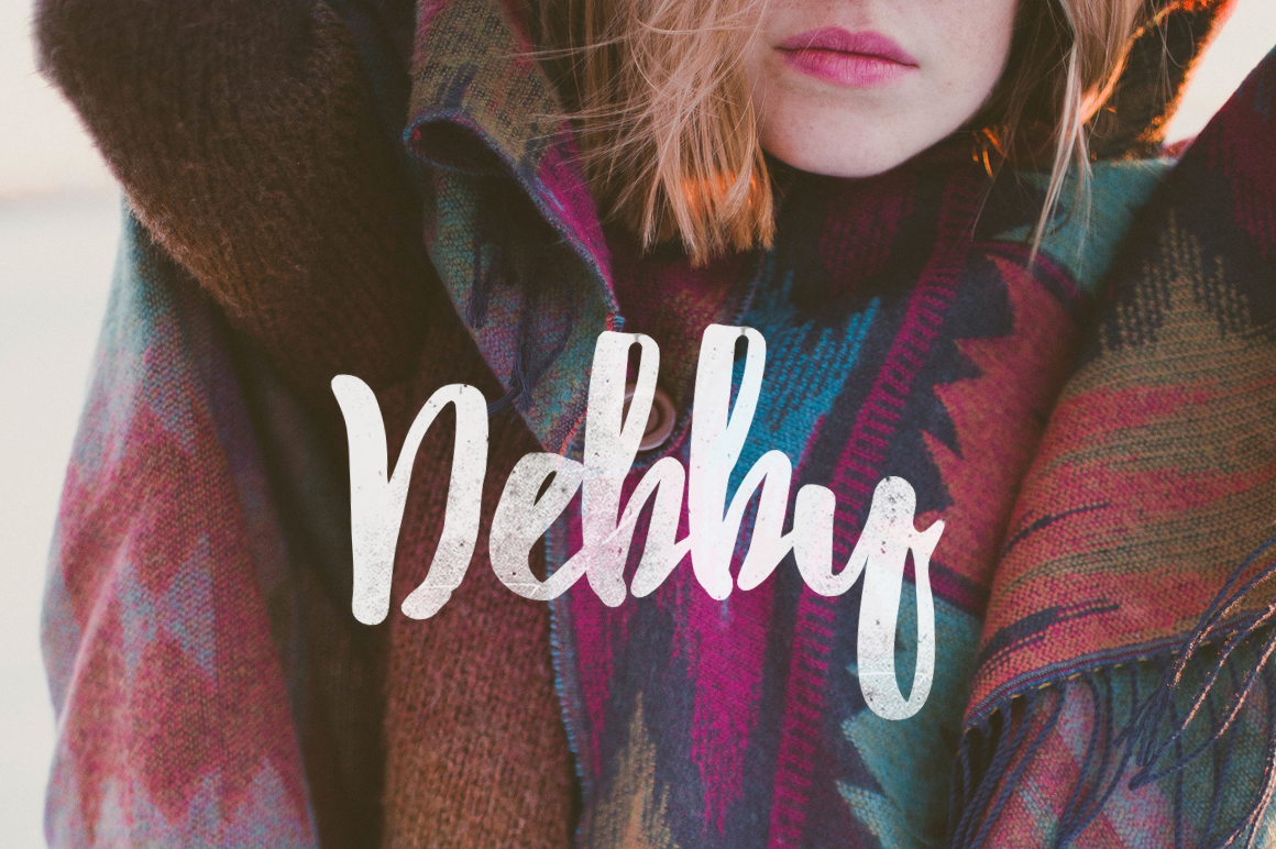 Debby – Free Hand Drawn Brush Font Poster A