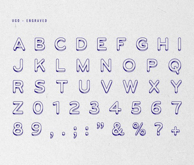 UGO – Free 3D Layered Font Poster B