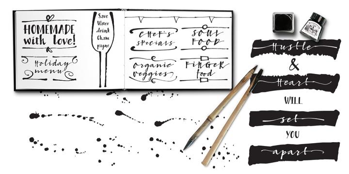 Bambusa Pro – Sturdy Calligraphic Font Poster C