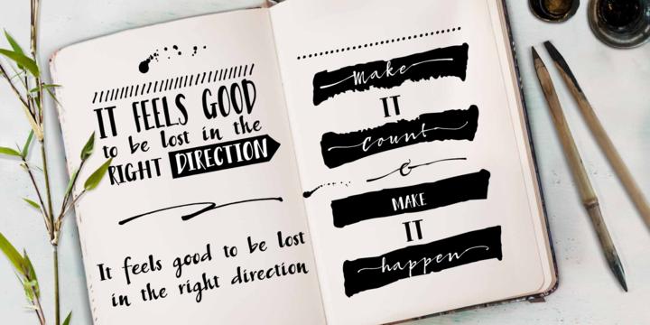 Bambusa Pro – Sturdy Calligraphic Font Poster B