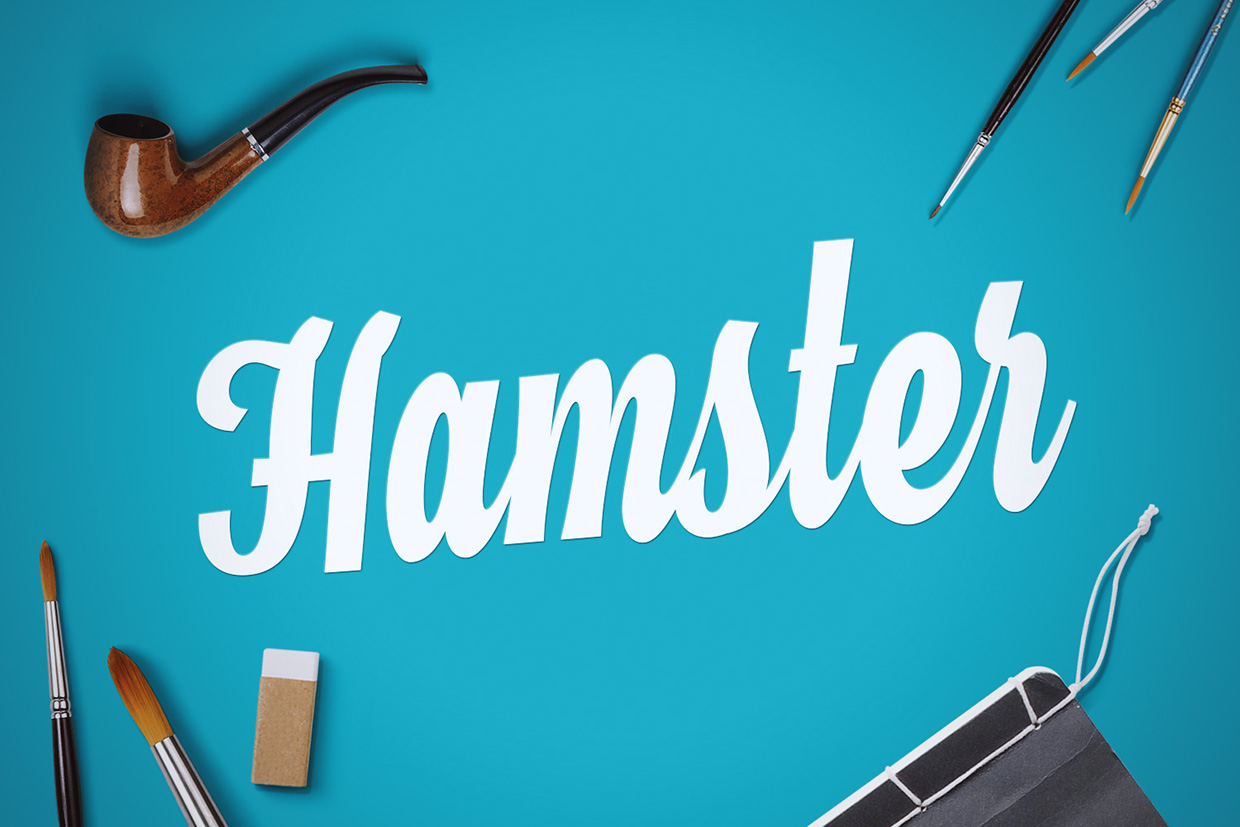 Hamster – Free Brush Script Font Poster A