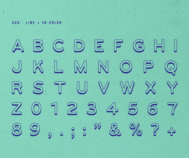 UGO – Free 3D Layered Font Poster C