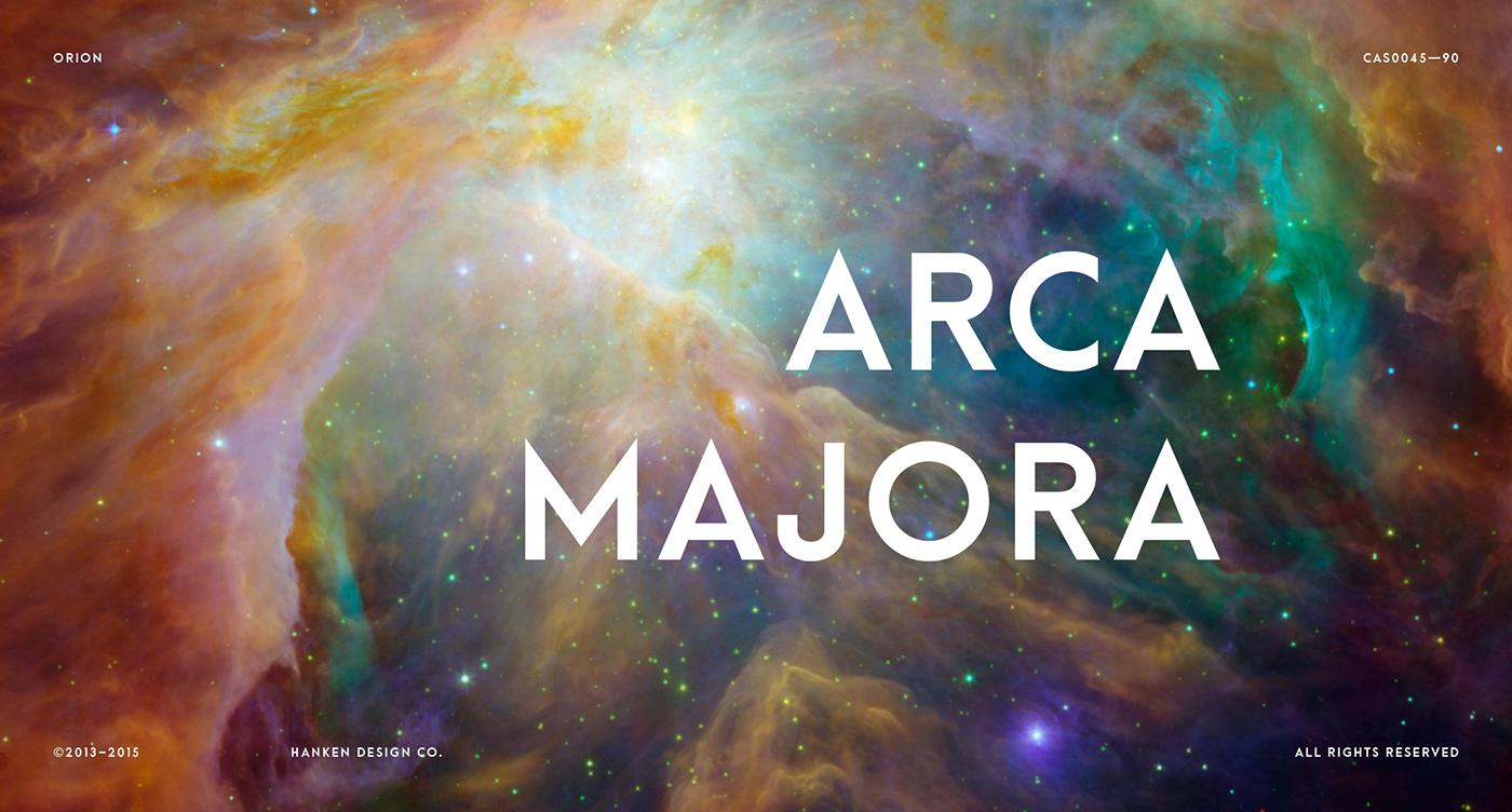 Arca Majora – Free Geometric Sans Font Poster A