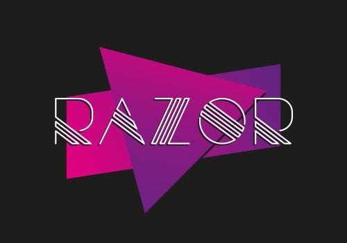 Razor – Free Multi-Line Retro Font Poster A