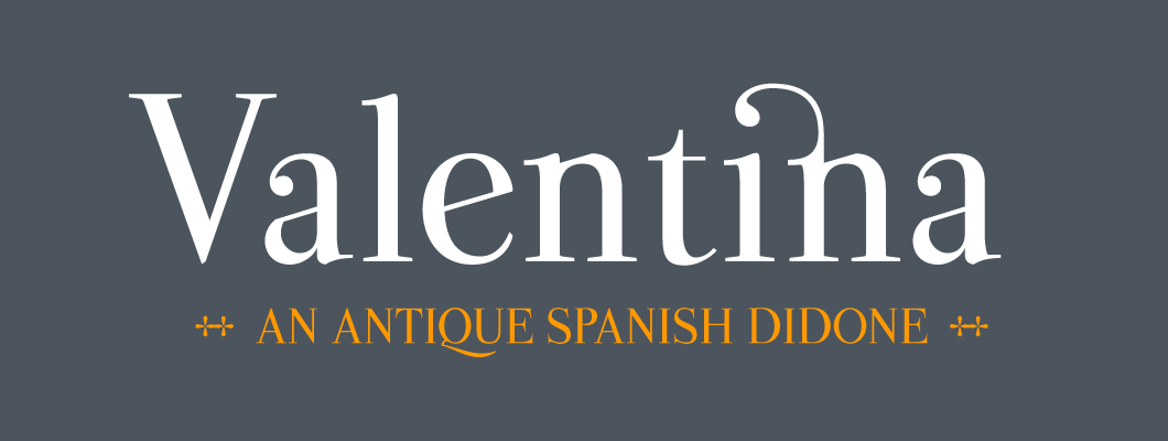 Valentina – Free Antique Didone Font Poster A
