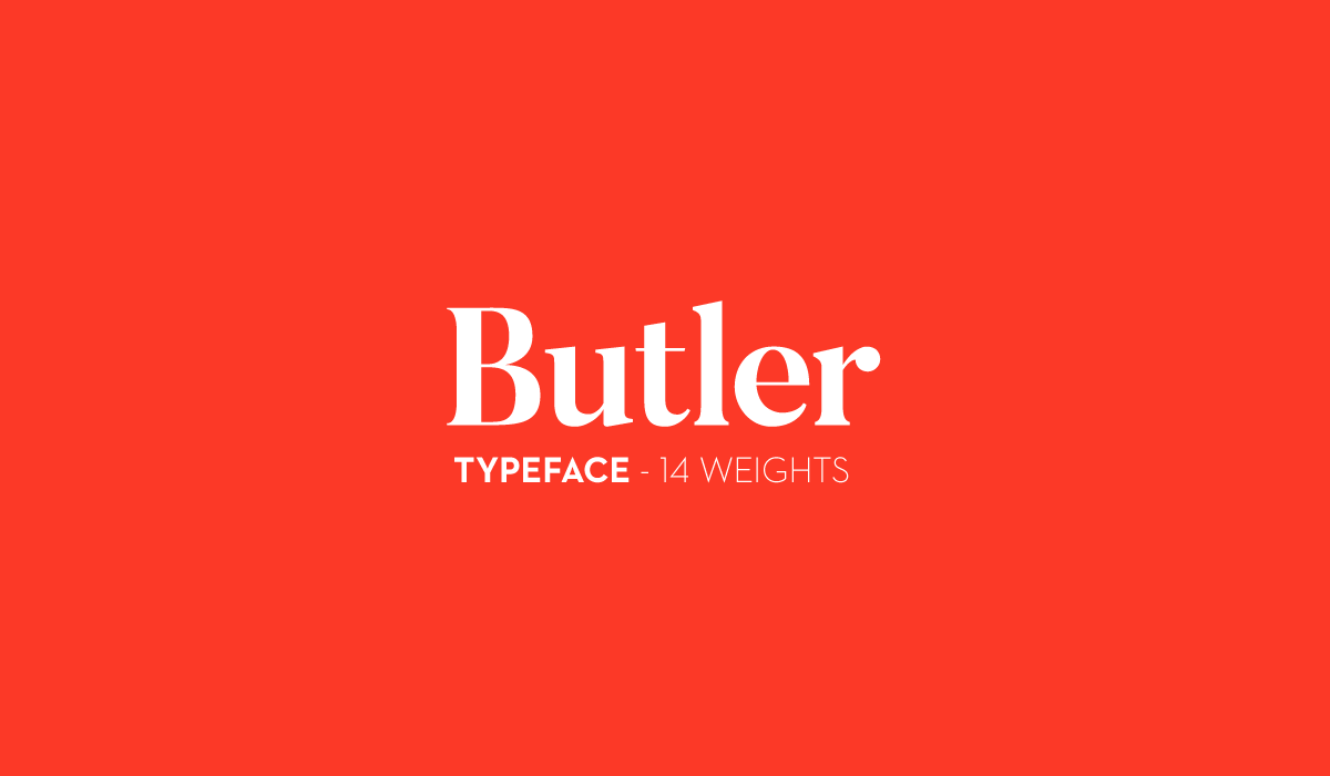 Butler – Free Engraving Font Poster A