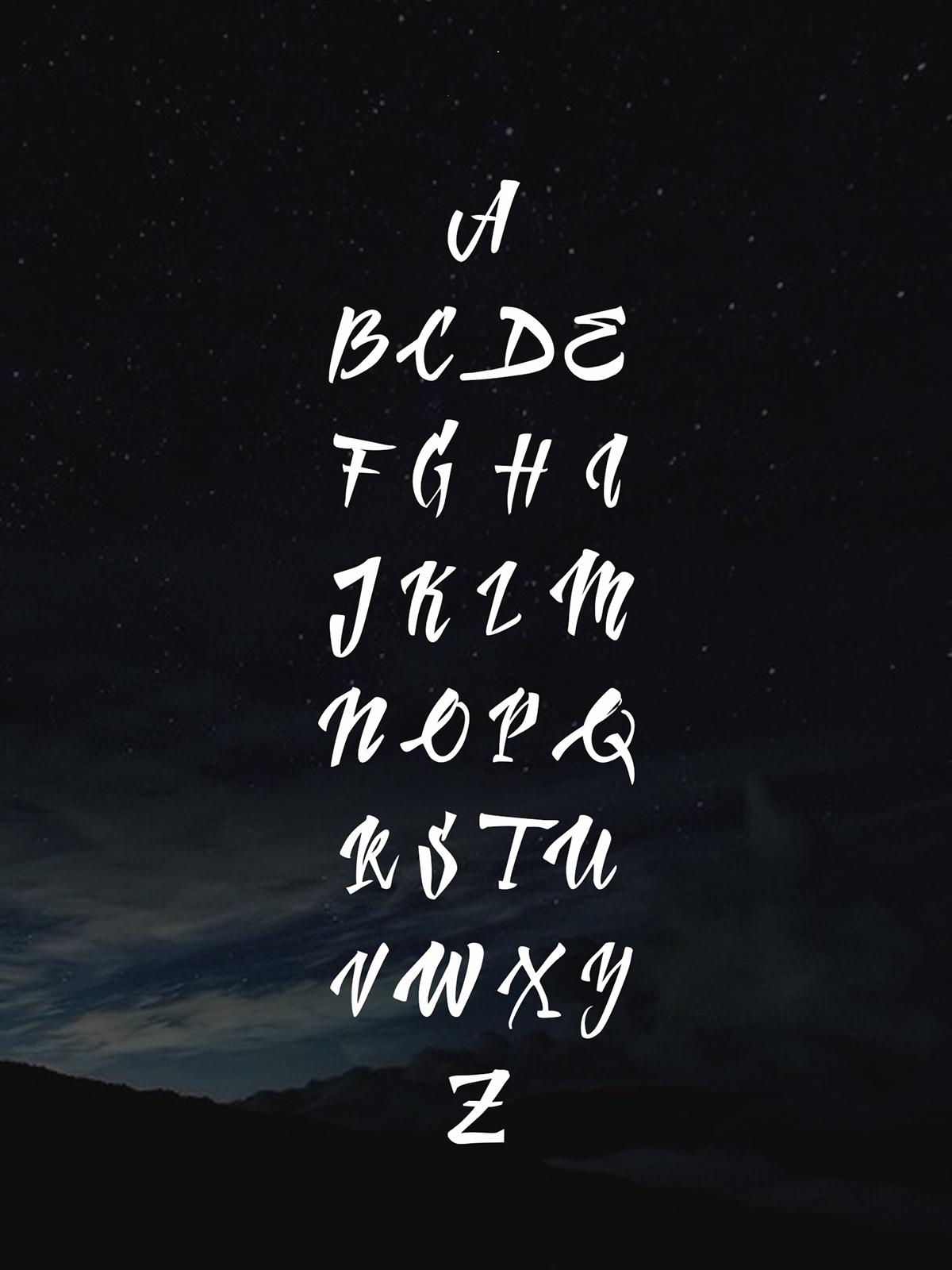 Handletter – Free Brush Font Poster C