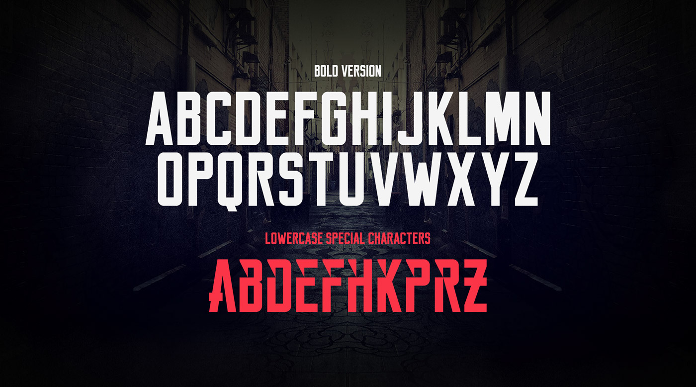 Reckoner – Free Industrial Sans Serif Font Poster D