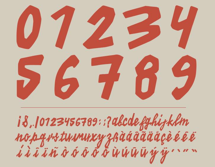 KINO 40 – Free Handwritten Font Poster C