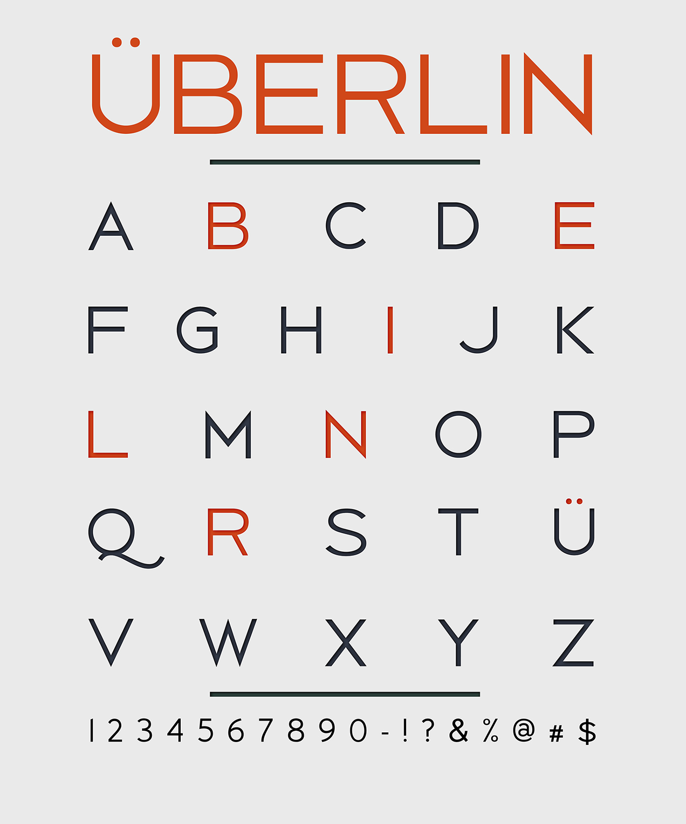 Berlin – Free Headline Fonts Poster D