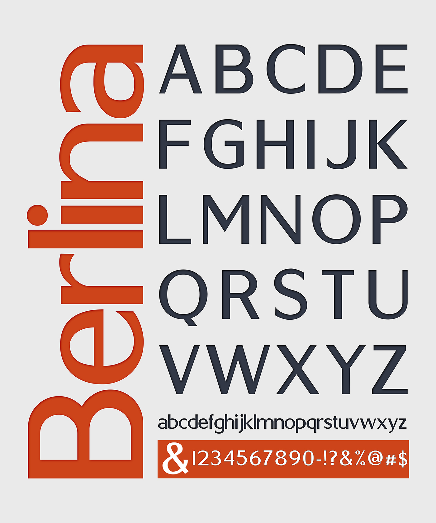Berlin – Free Headline Fonts Poster B