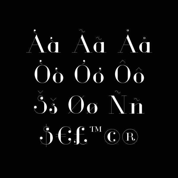 Glamor – Free Chic Serif Font Poster E