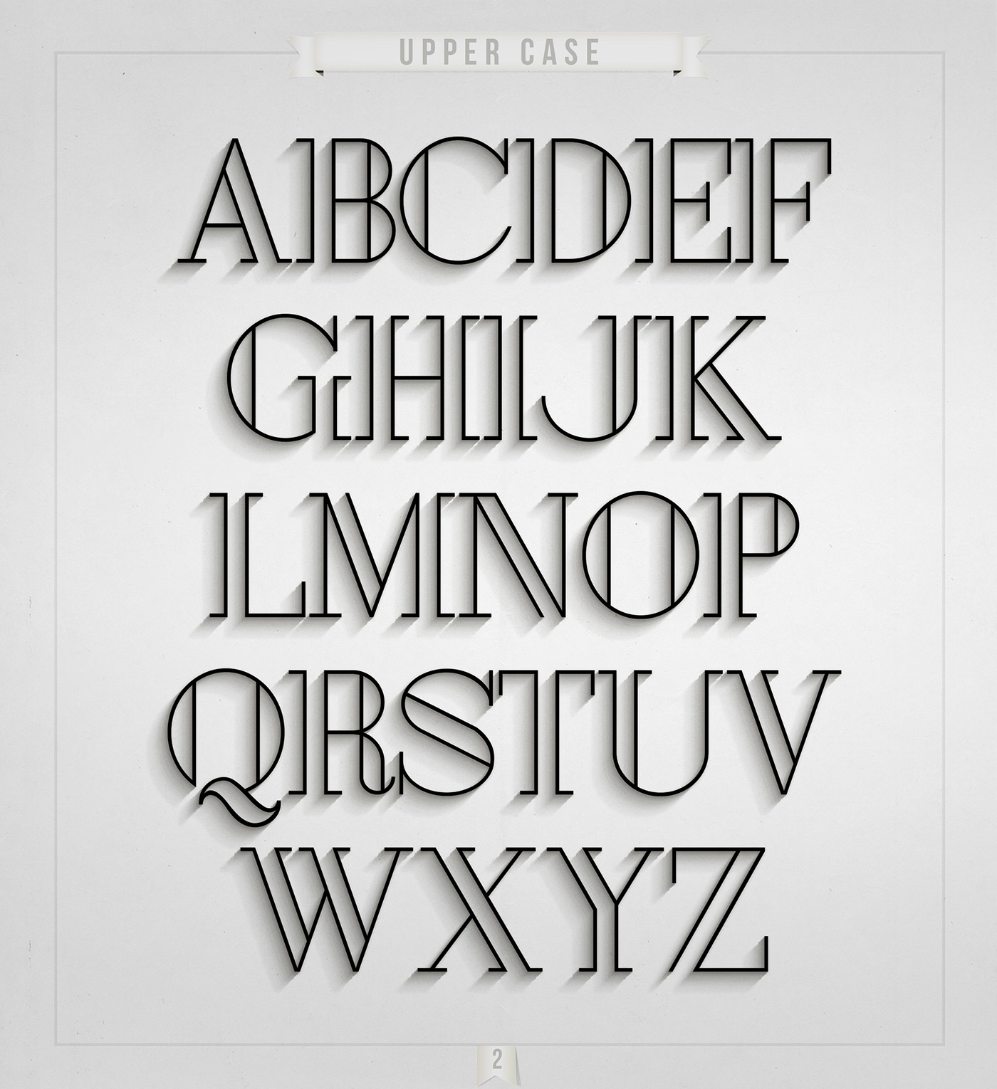 London – Free Art Deco Font Poster B