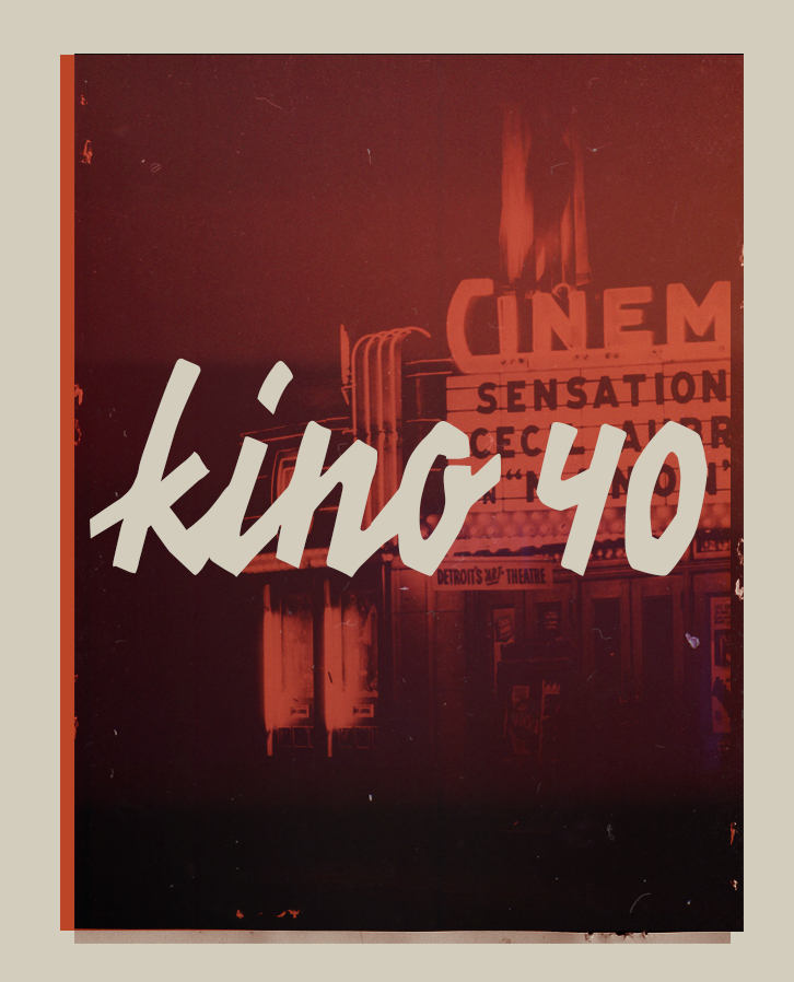 KINO 40 – Free Handwritten Font Poster A