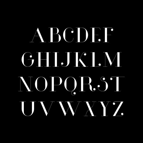 Glamor – Free Chic Serif Font Poster B