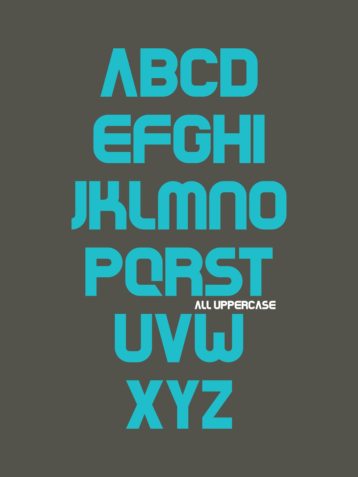 Beaver – Free Geometric Sans Font Poster A