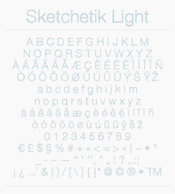 Sketchetik – Hand Drawn Sketched Font Poster E
