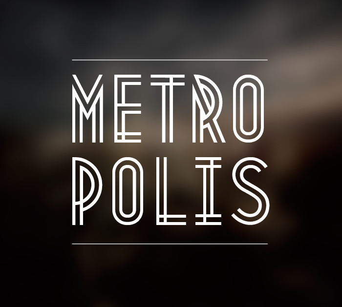 Metropolis 1920 – Free Art Deco Font Poster A