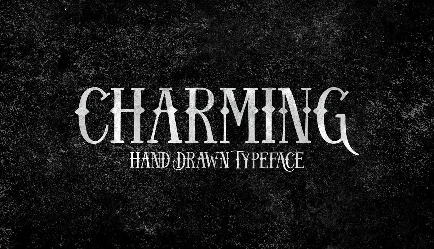 Charming – Free Hand Drawn Font Poster A