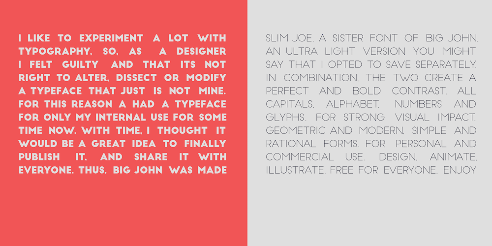 Big John & Slim Joe – Free Sans Serif Font Poster B