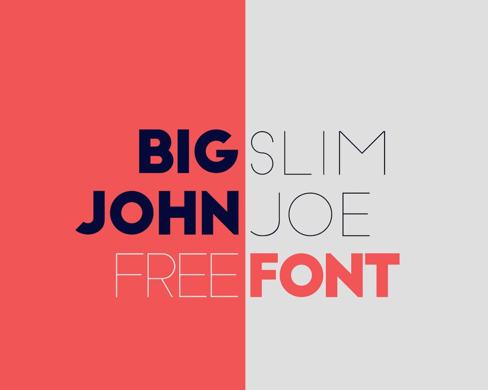 Big John & Slim Joe – Free Sans Serif Font Poster A