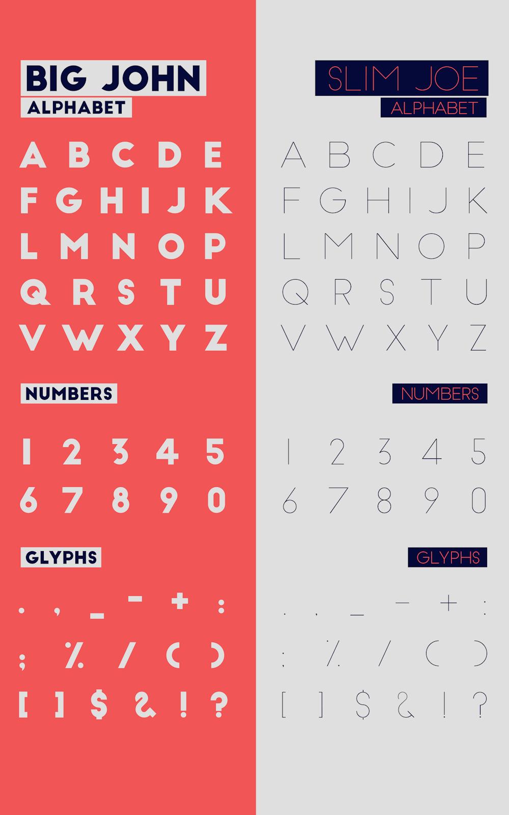 Big John & Slim Joe – Free Sans Serif Font Poster C
