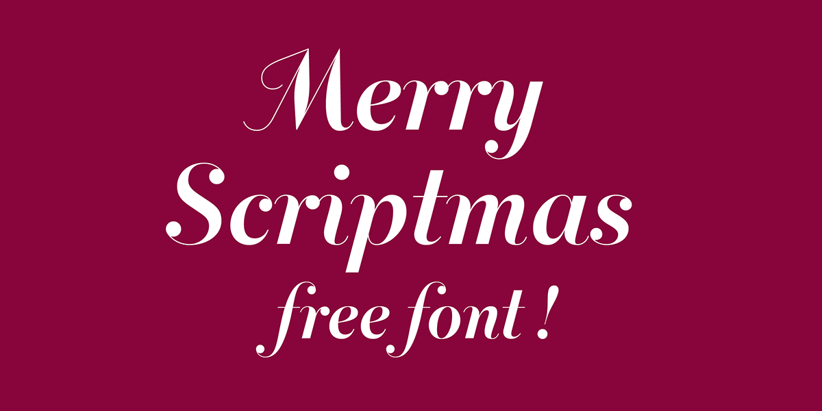 Merry Scriptmas – Free Lovely Script Font Poster A