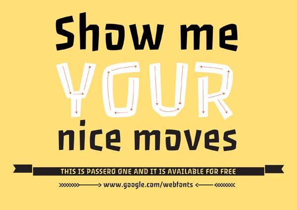 Passero – Free Display Sans Serif Font Poster A
