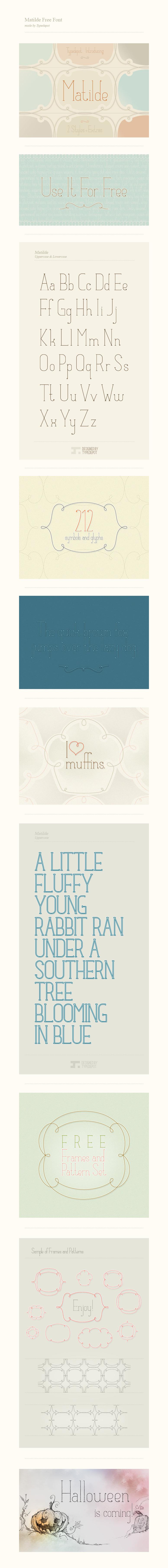 Matilde – Free Ultra-Thin Font Poster A