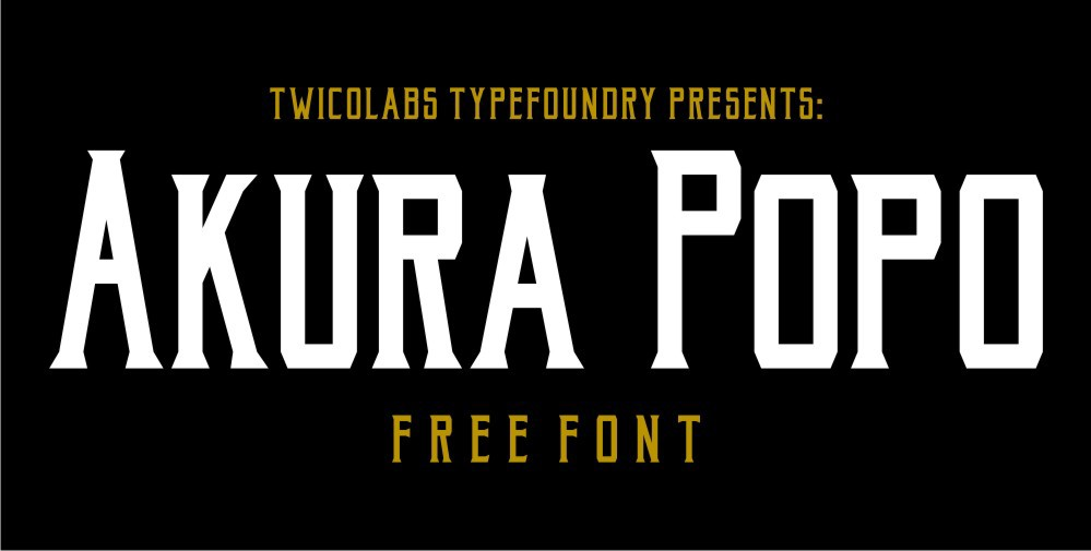 Akura Popo – Vintage & Condensed Serif Font Poster A