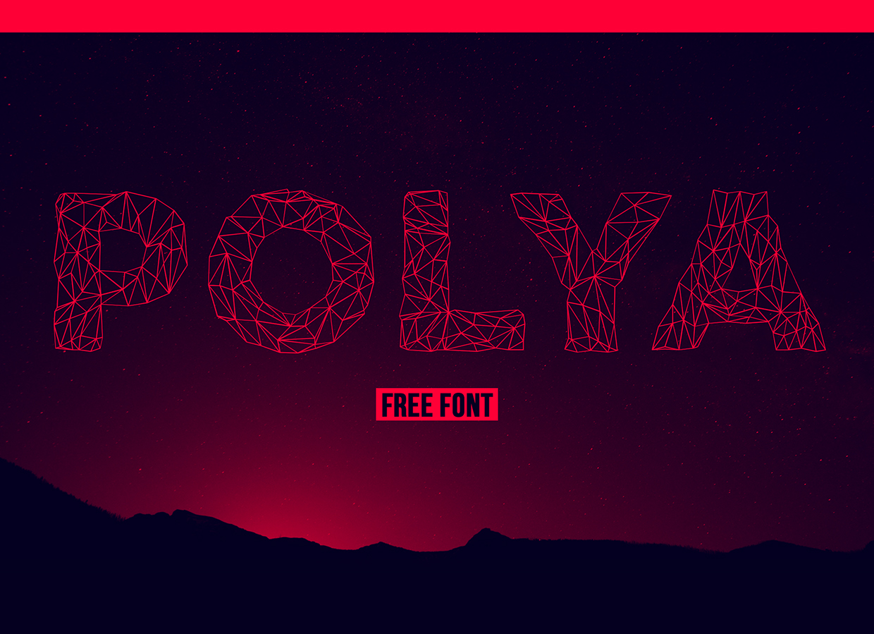 POLYA – Free Low Poly Inspired Font Poster B