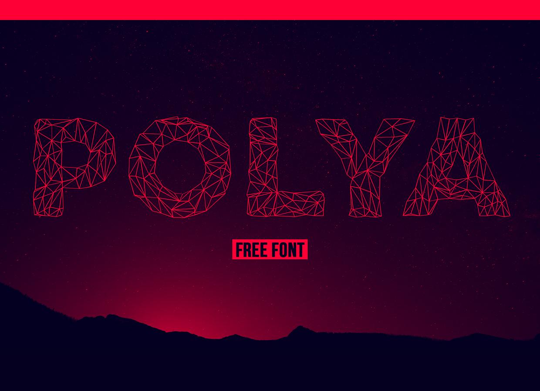 polya  u2013 free low poly inspired font