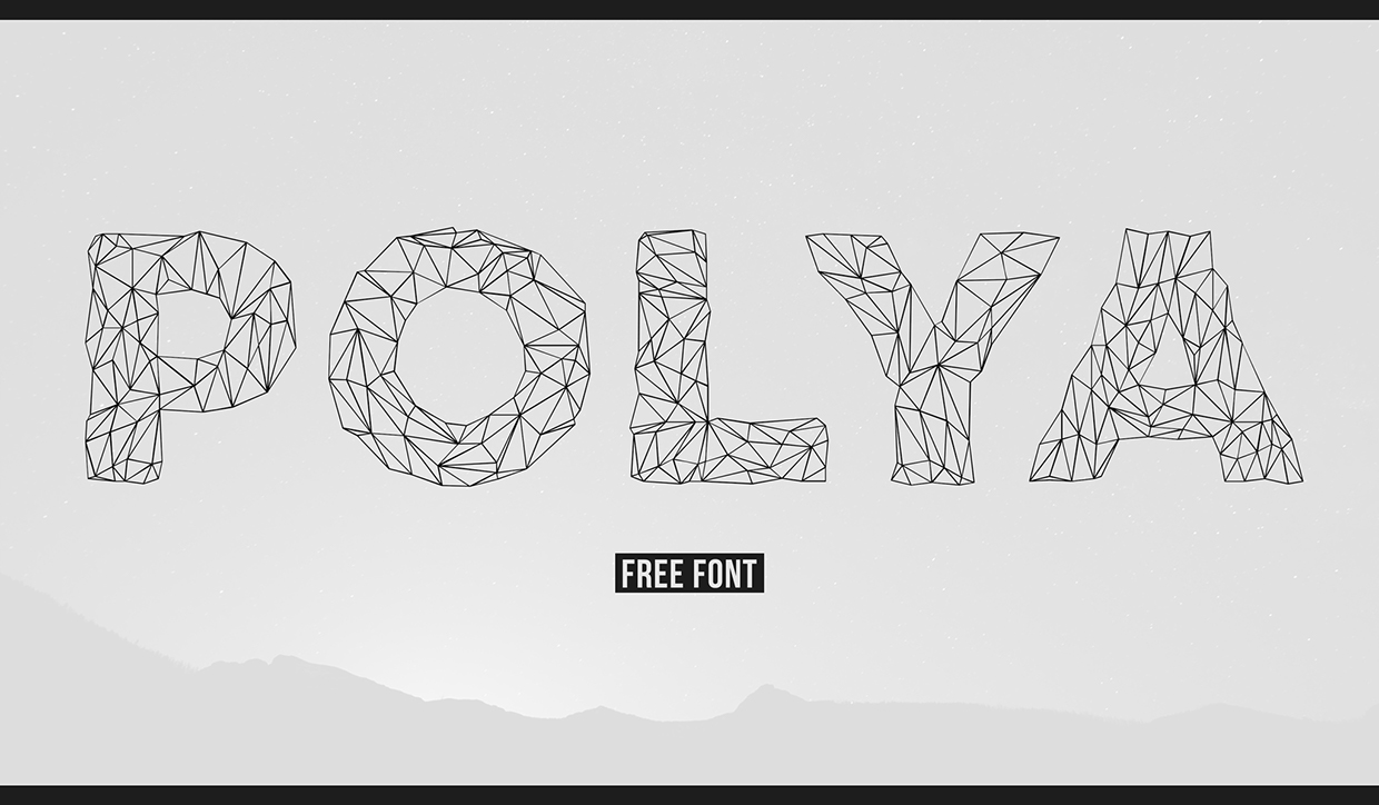 POLYA – Free Low Poly Inspired Font Poster A