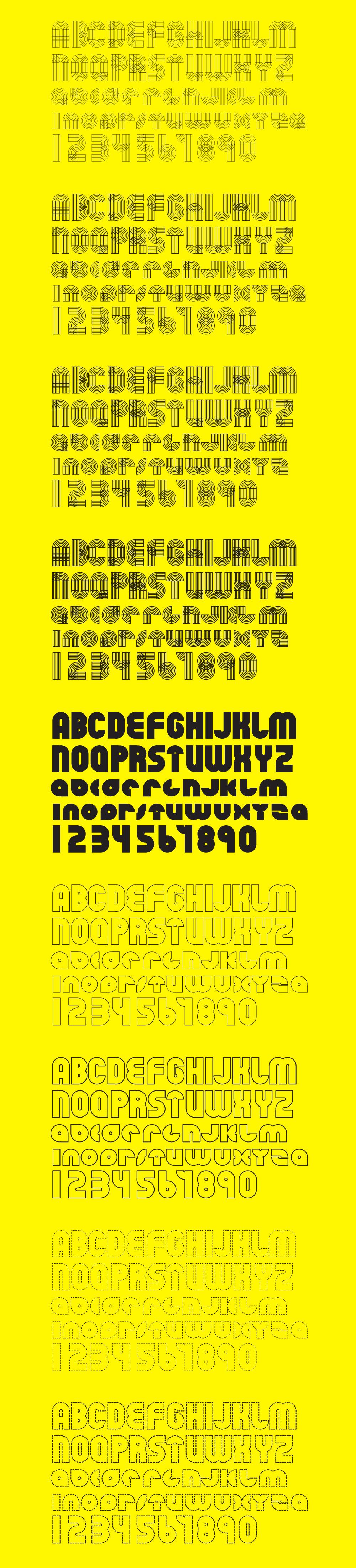 Orbits – Free Geometric Font Poster E