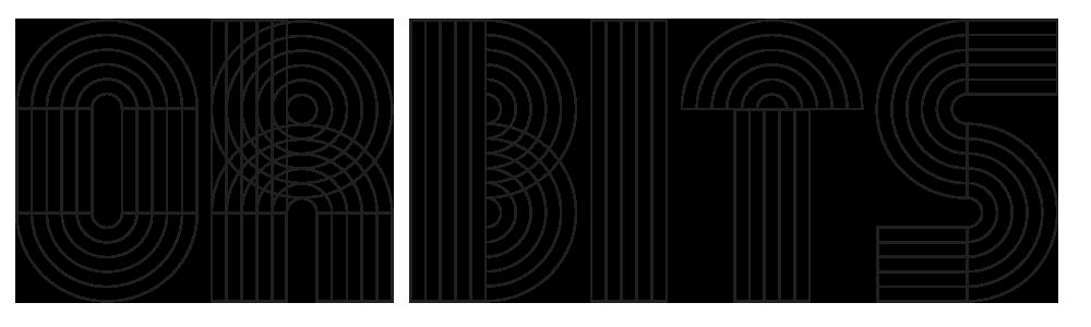 Orbits – Free Geometric Font Poster A