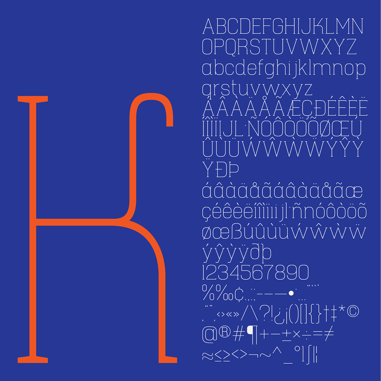 Hapna Mono – Free Monospaced Serif Font Poster C