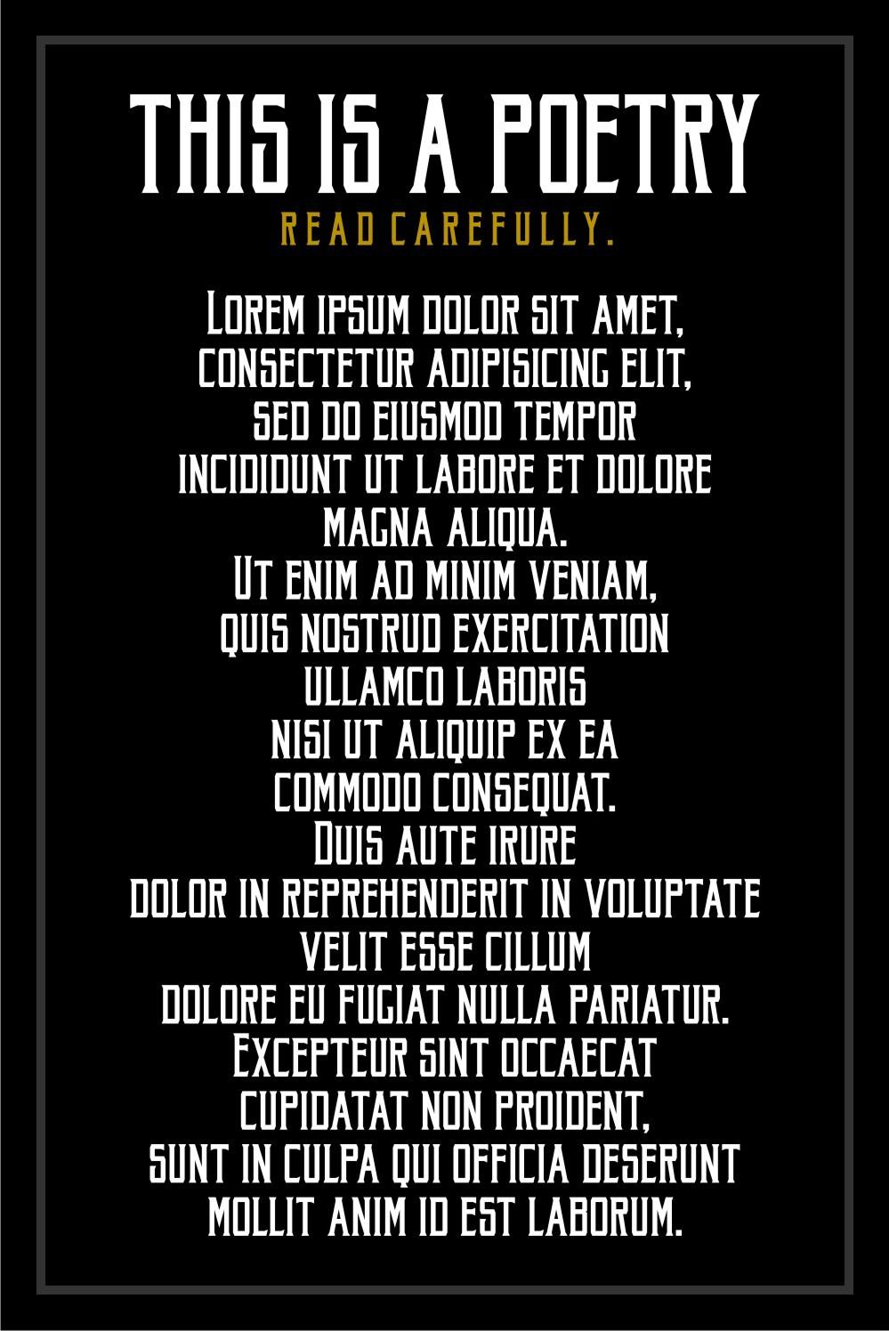 Akura Popo – Vintage & Condensed Serif Font Poster D