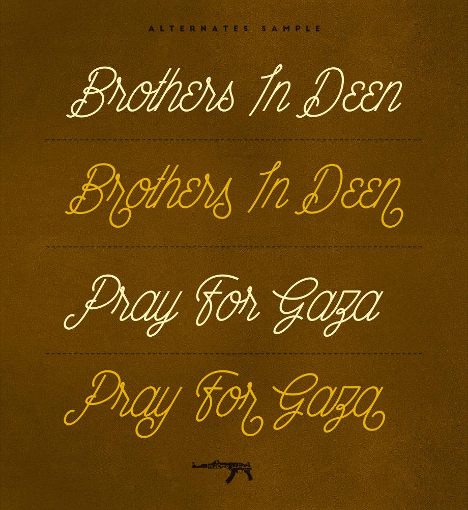 Wahhabi Script – Hand Lettered Script Font Poster C